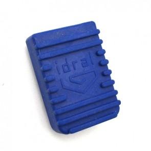 Copripedale in gomma blu