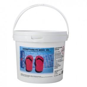 """Correttore ph """"meno"""" granulare per piscine 1,5 kg"""