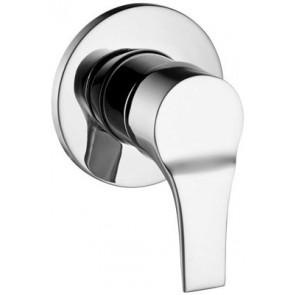 Monocomando incasso doccia serie flat cromo