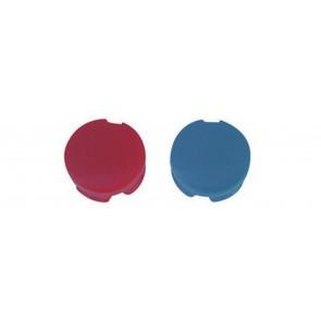 Placchette rosso/blu per maniglie zucchetti