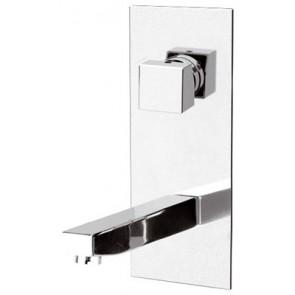 Miscelatore monocomando lavabo ad incasso linea cubic cromo