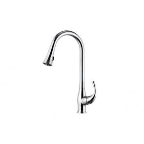 Monocomando lavello con doccia estraibile linea pluto cromo