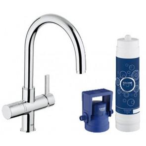 Miscelatore per lavello blue pure con sistema acqua filtrante cromo