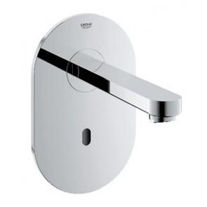 Rubinetto elettronico per lavabo a corrente ad incasso euroeco cromo