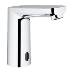 Rub. elettronico per lavabo con dispositivo miscelazione nascosto cromo