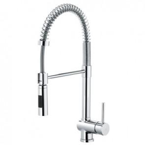 Misc. lavello con molla e doccia estraibile stick cromo