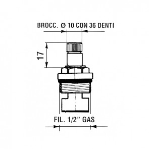 Conf. 2 pz movimento ceramico serie prima mod. 14v fil. 1/2 gas