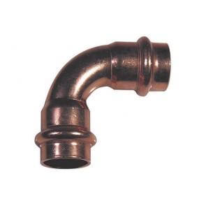 Curva rame ff a 90° per acqua viega diam. 15
