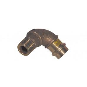 """Curva bronzo f x fil. m a 90° per gas viega diam. 35 x 1""""1/4"""
