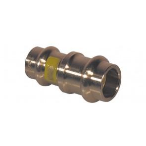 Manicotto di riduzione ff bronzo per gas viega diam. 16 x 15