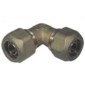 Gomito a 90° doppio per tubo cobra-pex 22 x 22