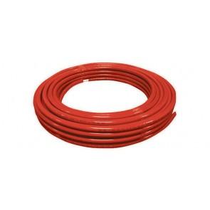 Tubo multi-dian sistema multistrato coibentato rosso rotolo 10 mt 16 x 2