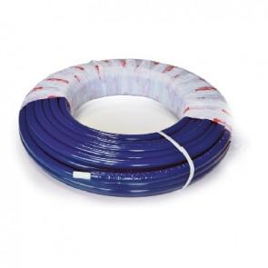 Tubo multistrato nicoll system coibentato blu 20 x 2