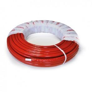 Tubo multistrato nicoll system coibentato rosso 20 x 2