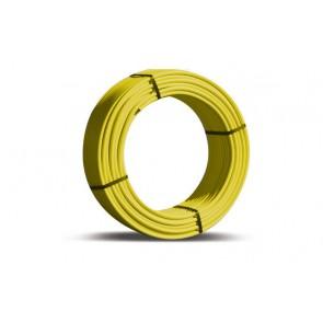 Tubo multi-dian giallo nudo per gas diam. 16 x 2