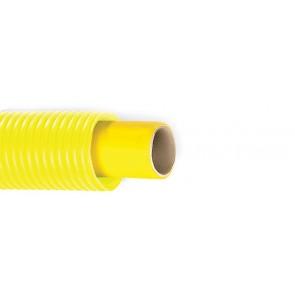 Tubo multistrato per gas con guaina corrugata gialla diam. 16 x 2