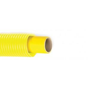 Tubo multi-dian per gas con guaina corrugata gialla diam. 16 x 2