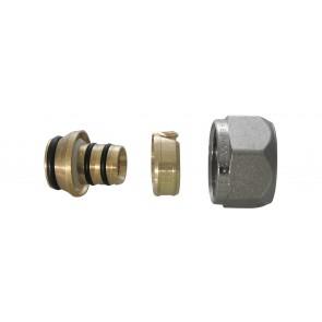 Adattatore per tubo multistrato nichelato 16 x 2.25