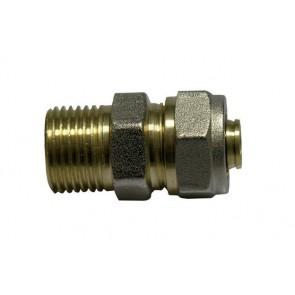 Raccordo a stringere per tubo multistrato diritto maschio diametro 3/4 x 26