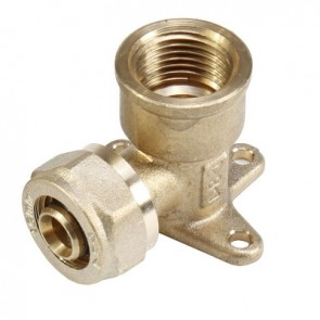 """riscaldamento a pavimento PEX-AL-PEX raccordi a compressione in ottone. GOMITO 16x3//4/"""" M"""