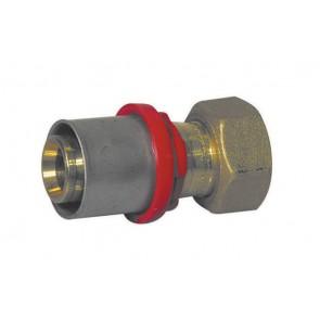 Raccordo A Pressare Dritto 20 X 1//2 Con Girello Per Multistrato Tiemme