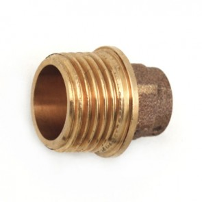 Nipples bronzo diritto m. a saldare 1/2 x 14