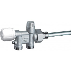 "Valvola mono-bitubo termostatizzabile cromata (far) 1"" dx"