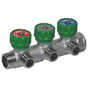 Collettore componibile 3 vie per collegamento tubo multistrato (far) 3/4 x 1/2
