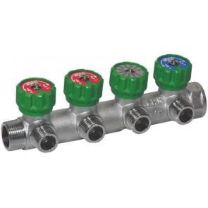 Collettore componibile 4 vie per collegamento tubo multistrato (far) 3/4 x 1/2
