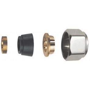 Adattatore per tubo rame cromo lucido (sf) diam. 12