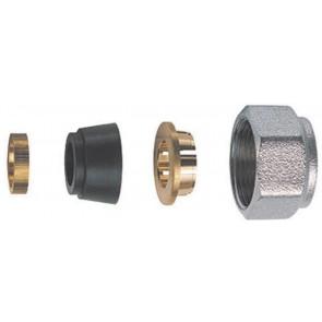 Kit di tenuta in gomma a compressione per tubo rame 4 pz (sf) diam. 14