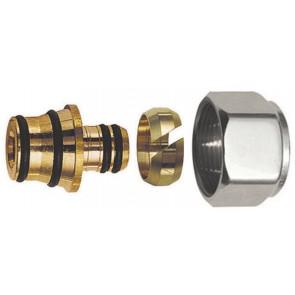 Adattatore per tubo multistrato cromo-lucido diam. 16 x 2