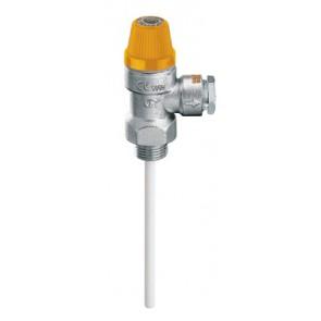 """Valvola di sicurezza combinata temperatura e pressione m 3/4"""" x diam. 22 6 bar"""