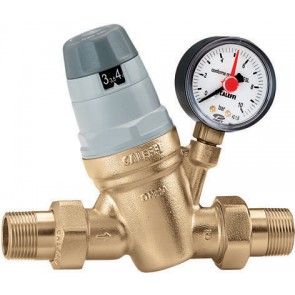 """Riduttore di pressione con manometro preregolabile 1"""""""