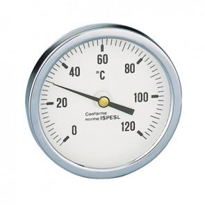 Termometro attacco posteriore diametro 80 pozzetto 100 mm