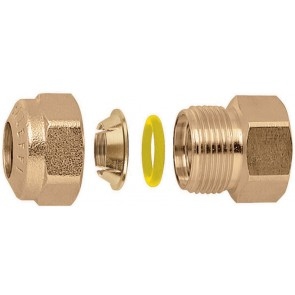 "Raccordo o-ring diritto femmina per tubo rame 1/2"" - 16"