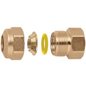 "Raccordo o-ring diritto femmina per tubo rame 1/2"" - 18"
