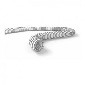 Tubo spiralato alimentare bianco diam. 25