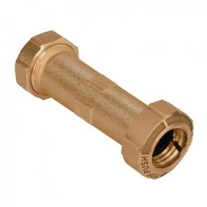 Monogiunto diritto prolungato per pe/pe con anello ottone 25 x 25  lungh. 125 mm