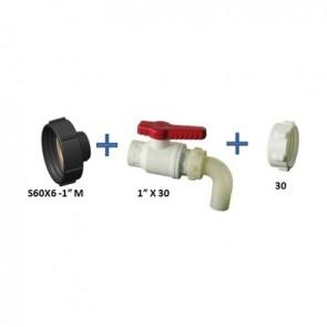 """Set di collegamento a contenitori ibc s60x6x1""""x30"""