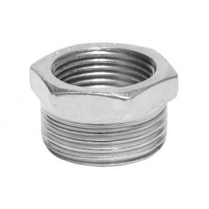 Riduzione esagonale mf in acciaio 1/4 x 1/8