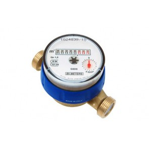 """Contatore per acqua calda 90° diam. 15 - 1/2"""" l. 110"""