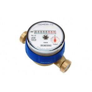 """Contatore per acqua calda 90° diam. 20 - 3/4"""" l. 130"""
