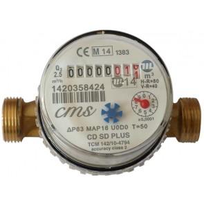 "Contatore per acqua calda super dry asciutto cms 1/2"""
