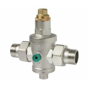 """Riduttore di pressione con sede inox e bocchettoni mm 1/2"""" - diam. 15"""