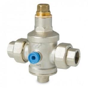 Riduttore di pressione con sede inox e bocchettoni ff 3/4
