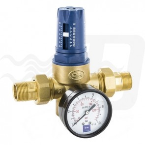 "Riduttore di pressione a membrana twist pn 25 c/manometro 1/2"""