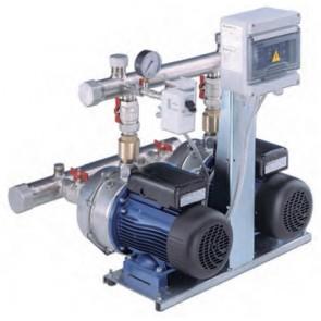Gruppo di pressione a 2 pompe monofase mod. gxs20 potenza: 2 x 0.75 kw