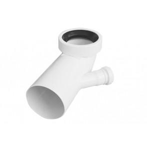 Curva bianca wc attacco bicchiere sx valsir diam. 110 / 40