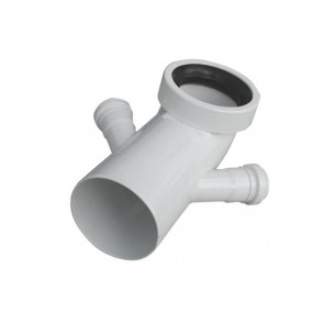 Curva bianca wc attacco bicchiere doppio valsir diam. 110 / 40